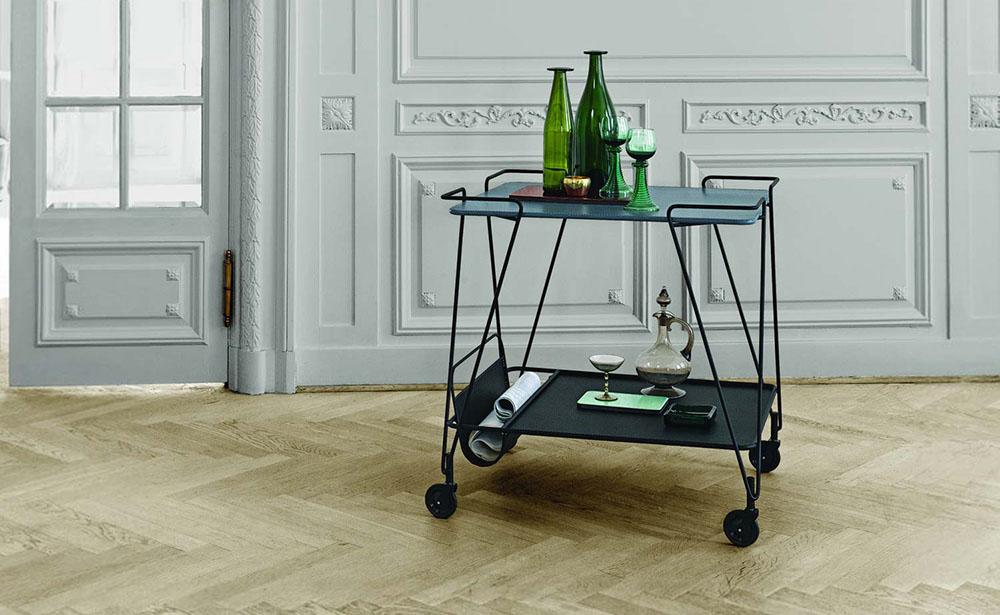 Opdateret Rullebord og serveringsvogn - 17 modeller til køkken og stue CX09
