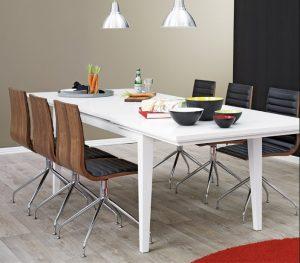 spisebord med langt udtræk