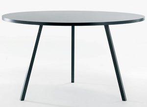 rundt sort bord