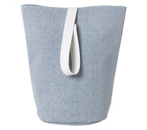 firkantet vasketøjskurv plast