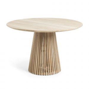 Rundt spisebord af træ