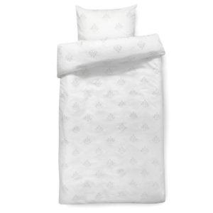 ff819b5f587 Hvidt sengetøj fra Isabel Kristensen med lysegrå plantemotiver