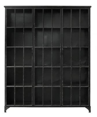 Nordal DOWNTOWN vitrineskab - en ekstra stor 3-dørs vitrine med fleksible hylder