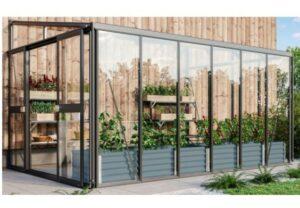 Helena 10200 sort – smukt og moderne vægdrivhus