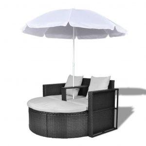 Solseng med parasol