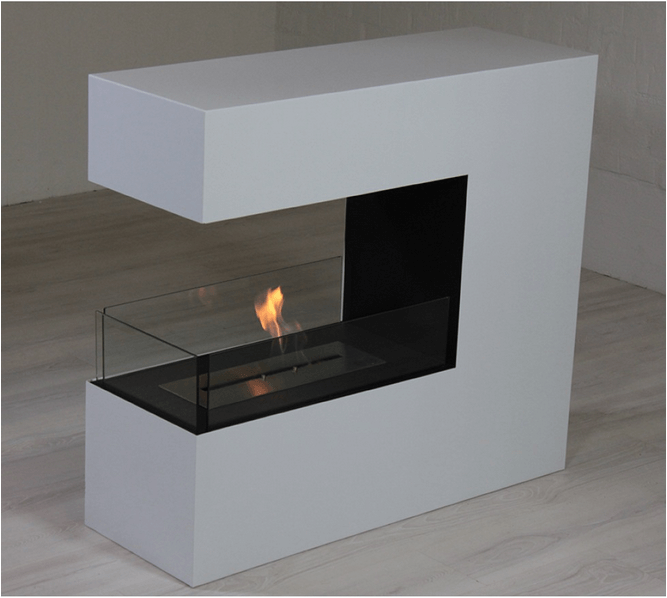 Incredibly beautiful bio fireplace for installation with 3 open sides
