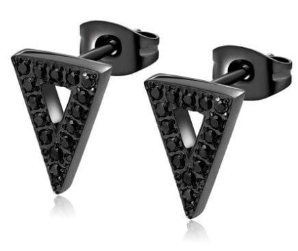 AnneBrauner Triangle Black Øreringe