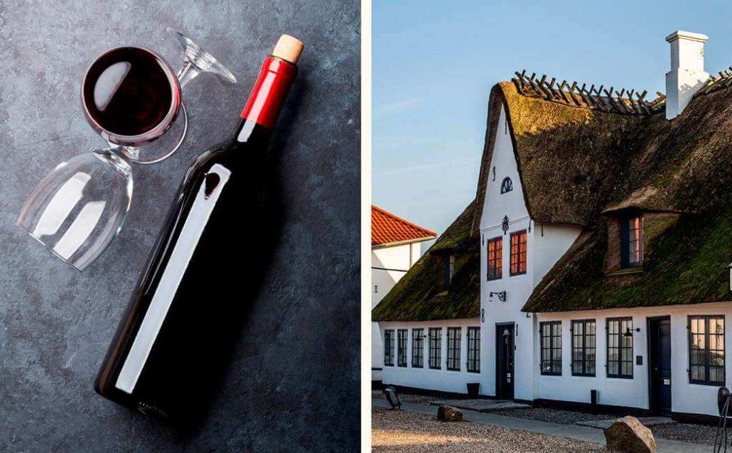 Kro- og Hotelophold med Vin for 2