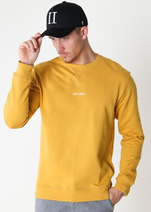 Les Deux Lens Sweatshirt Yellow/White