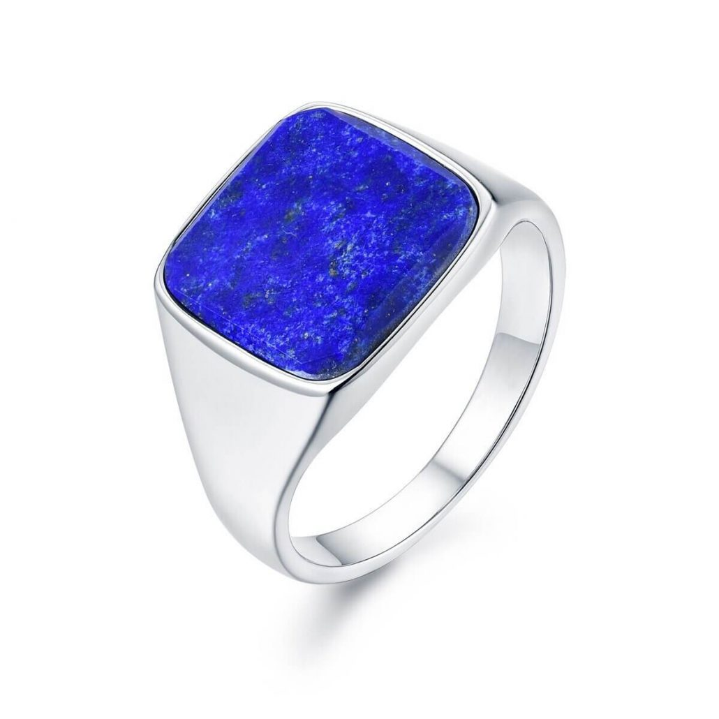 Northern Legacy Lapis Signature Ring Silver
