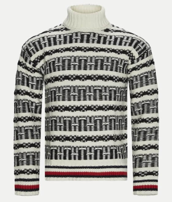 Tommy Hilfiger Regular Oversized Fairsle Roll Neck Sweater
