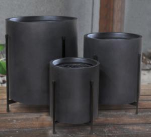 Antracit havekrukke – minimalistisk og rund