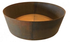 Rund plantekumme - Ø120 Corten stål
