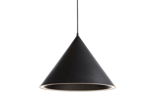 WOUD Annular pendel sort large loftslampe