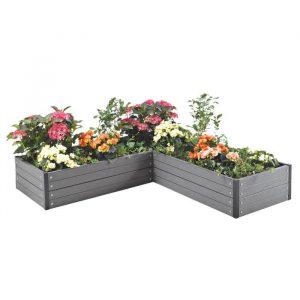 Vinkelformet plantekasse – vedligeholdelsesfri gør det selv højbed