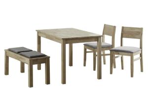 Norman Spisebordssæt m. 4 dele - GråNatur