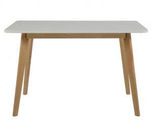 Clara spisebord – Flot hvidt bord med træben