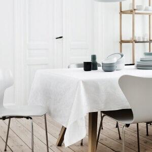 ARNE JACOBSEN-dug Hvid Elegant damaskdug fra Arne Jacobsen