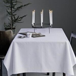SNEFNUG-damaskdug White Stilren damaskdug i hvid fra Georg Jensen